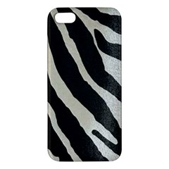 Zebra Print Apple Iphone 5 Premium Hardshell Case by NSGLOBALDESIGNS2