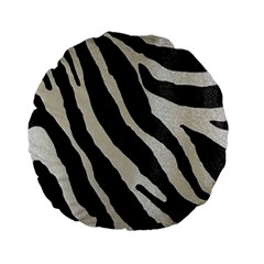 Zebra Print Standard 15  Premium Flano Round Cushions by NSGLOBALDESIGNS2