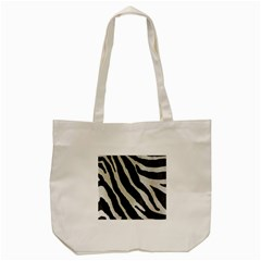 Zebra Print Tote Bag (cream) by NSGLOBALDESIGNS2