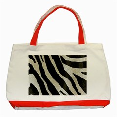 Zebra Print Classic Tote Bag (red) by NSGLOBALDESIGNS2