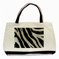 Zebra Print Basic Tote Bag (two Sides) by NSGLOBALDESIGNS2