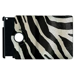 Zebra Print Apple Ipad 2 Flip 360 Case by NSGLOBALDESIGNS2