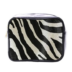 Zebra Print Mini Toiletries Bag (one Side) by NSGLOBALDESIGNS2