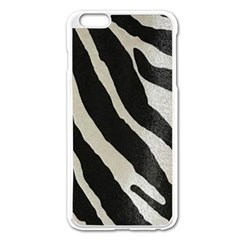 Zebra Print Apple Iphone 6 Plus/6s Plus Enamel White Case by NSGLOBALDESIGNS2