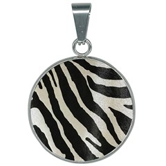 Zebra Print 25mm Round Necklace by NSGLOBALDESIGNS2