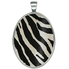 Zebra Print Oval Necklace by NSGLOBALDESIGNS2