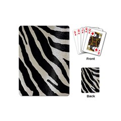 Zebra Print Playing Cards (mini) by NSGLOBALDESIGNS2