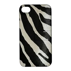 Zebra Print Apple Iphone 4/4s Hardshell Case With Stand by NSGLOBALDESIGNS2