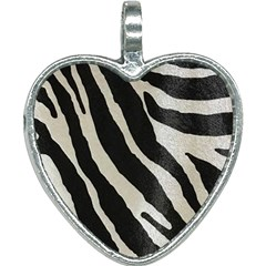 Zebra Print Heart Necklace by NSGLOBALDESIGNS2