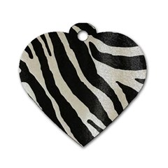 Zebra Print Dog Tag Heart (one Side) by NSGLOBALDESIGNS2