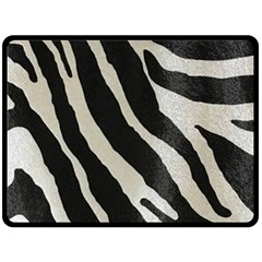 Zebra Print Double Sided Fleece Blanket (large)  by NSGLOBALDESIGNS2