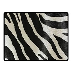 Zebra Print Double Sided Fleece Blanket (small)  by NSGLOBALDESIGNS2