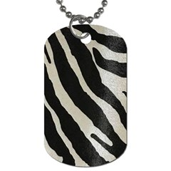 Zebra Print Dog Tag (one Side) by NSGLOBALDESIGNS2