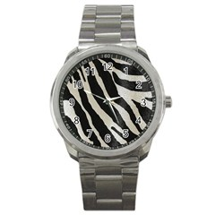 Zebra Print Sport Metal Watch by NSGLOBALDESIGNS2