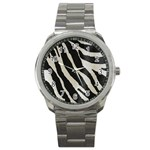 Zebra print Sport Metal Watch Front