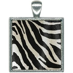 Zebra Print Square Necklace by NSGLOBALDESIGNS2