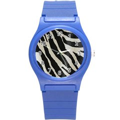Zebra 2 Print Round Plastic Sport Watch (s) by NSGLOBALDESIGNS2