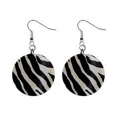 Zebra 2 Print Mini Button Earrings by NSGLOBALDESIGNS2
