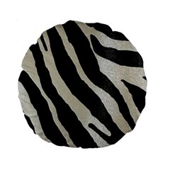 Zebra 2 Print Standard 15  Premium Round Cushions by NSGLOBALDESIGNS2