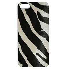 Zebra 2 Print Apple Iphone 5 Hardshell Case With Stand by NSGLOBALDESIGNS2