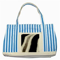 Stella Animal Print Striped Blue Tote Bag by NSGLOBALDESIGNS2