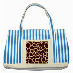 Gulf Lrint Striped Blue Tote Bag by NSGLOBALDESIGNS2