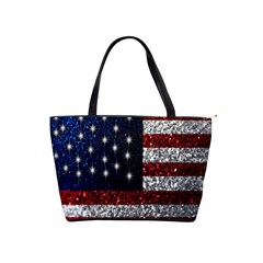 American Flag In Glitter Graphic Classic Shoulder Handbag by bloomingvinedesign