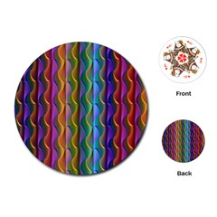 Background Wallpaper Psychedelic Playing Cards (round) by Samandel