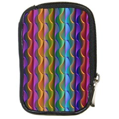 Background Wallpaper Psychedelic Compact Camera Leather Case