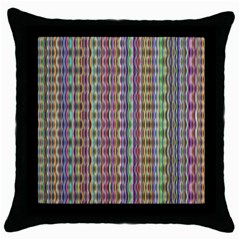 Psychedelic Background Wallpaper Throw Pillow Case (black) by Samandel