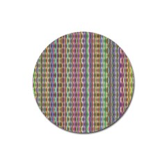 Psychedelic Background Wallpaper Magnet 3  (round) by Samandel