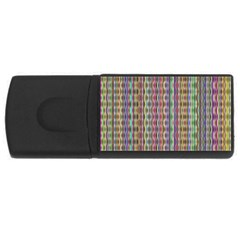 Psychedelic Background Wallpaper Rectangular Usb Flash Drive