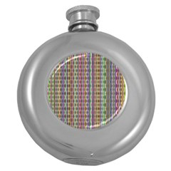 Psychedelic Background Wallpaper Round Hip Flask (5 Oz) by Samandel