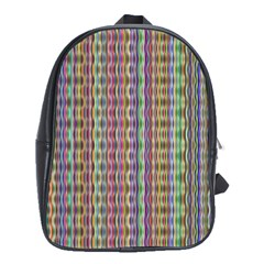 Psychedelic Background Wallpaper School Bag (large)