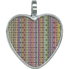 Psychedelic Background Wallpaper Heart Necklace