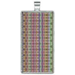 Psychedelic Background Wallpaper Rectangle Necklace