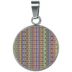 Psychedelic Background Wallpaper 20mm Round Necklace