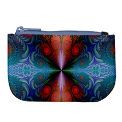 Fractal Background Design Large Coin Purse