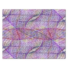 Purple Background Abstract Pattern Rectangular Jigsaw Puzzl