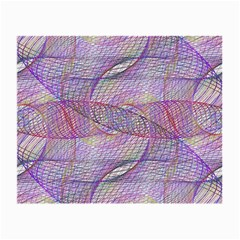 Purple Background Abstract Pattern Small Glasses Cloth