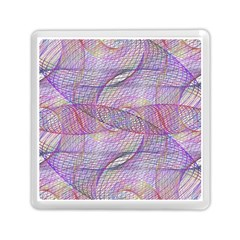 Purple Background Abstract Pattern Memory Card Reader (square)