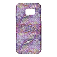 Purple Background Abstract Pattern Samsung Galaxy S7 Hardshell Case