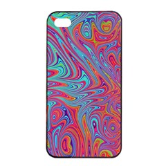 Fractal Bright Fantasy Design Apple Iphone 4/4s Seamless Case (black)