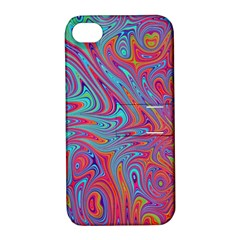 Fractal Bright Fantasy Design Apple Iphone 4/4s Hardshell Case With Stand