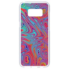 Fractal Bright Fantasy Design Samsung Galaxy S8 White Seamless Case