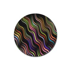 Psychedelic Background Wallpaper Magnet 3  (round)