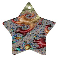 Fractal Artwork Design Pattern Star Ornament (two Sides)