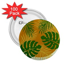 Leaf Leaves Nature Green Autumn 2 25  Buttons (100 Pack)