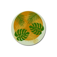 Leaf Leaves Nature Green Autumn Magnet 3  (round)