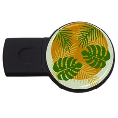 Leaf Leaves Nature Green Autumn Usb Flash Drive Round (4 Gb)